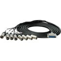 Sescom 25MA-XM-M05 Audio Snake Cable Mogami Analog 25-Pin D-Sub Male to 8 XLR Male w/ 18-Inch Fanouts - 5 Foot