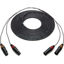 Sescom 2XLM-2XLF 2 Channel XLM Male to XLF Female Audio Cable with 12inch Fanout - 10 Foot