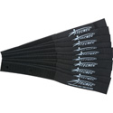 Cord-Lox 1in x 9 Inch Hook & Loop Hook & Loop Cable Tie Wrap 10 Pack Black