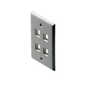 Fast Media 4-Port Keystone Wall Plate White