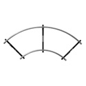 Matthews Track Curved 8ft Section Heavy Wall 20ft Diameter