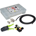 3G BNC Cable Kit with 20 Kings BNCs & 100 Foot Belden 1694A RG6 - Crimper & Stripper Included