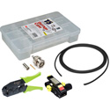 3G BNC Cable Making Kit with 20 Kings BNCs & 100 Foot Belden 1855A Mini-RG59 - Crimper & Stripper Included