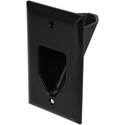 Datacomm 1 Gang Recessed Low Voltage Cable Plate Black