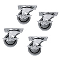 Set of Casters for Slim 5 4-Locking