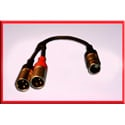 5 Pin ProAudio 523b 5-Pin XLR Female to Dual 3-Pin Male Y-XLR Cable 1.5 ft