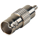Nickel BNC Female to RCA Male Adapter - 75 Ohm