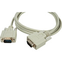 DB-9 Serial Male - Male Molded Cable 25ft Beige