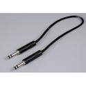 Audio Accessories 621B Maxi (Bantam/TT) Woven Patch Cord Black
