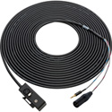 XLR & 3.5mm Male to XLR & 3.5mm Female Boom Mic to Camera Cable 50 Ft.