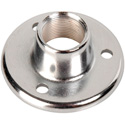 Atlas AD-11B Surface Mount Female Mic Flange 5/8in-27 Thread - Chrome Finish