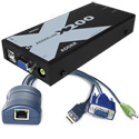Adder X200AS-USB/P-US Link X200AS -VGA/ Audio/ DeSkew & USB Extender Pair to 100m