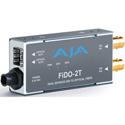 AJA FiDO-2T-X Dual Channel 3G-SDI to LC Fiber Converter - Transmitter