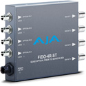 AJA FiDO-4R-ST  4K/UltraHD Quad-channel 3G-SDI to ST Fiber Mini-Converter - Rece