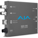 AJA HA5-12G-2T HDMI 2.0 to 12G-SDI Mini-Converter with Dual Fiber Transmitter
