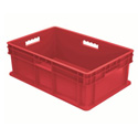 Akro-Mils 37688 Solid Side/Solid Base Straight Wall Container 23.75 x 15.75 x 8.25 Inch - Red