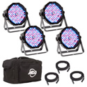 ADJ  Mega Flat Pak Plus -LED Par Pack With 4x Mega Par Lights