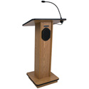 AmpliVox S355-OK Elite Lectern - Wired Sound - Oak