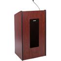 AmpliVox S450-WT Presidential Plus Lectern - Wired Sound - Walnut