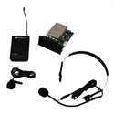 Amplivox S9112 Panel Mount Kit with Lapel & Headset Mic