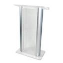 Amplivox SN308009 2-Post Contemporary Acrylic & Aluminum Lectern