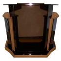 Amplivox SN3560-MO Deluxe Smoke Acrylic & Golden Oak Lectern Base & Surf 54Wx24D