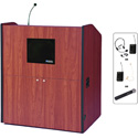 Amplivox SW3430-CH Multimedia Smart Podium - Wireless Sound- Cherry