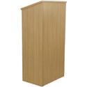 Amplivox W280-OK Full Height Wood Lectern - Oak