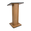 Amplivox W355 Elite Solid Hard Wood Lectern Stand Without Sound-Walnut