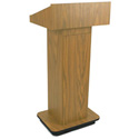 Amplivox W505-BK Executive Non-Sound Column Lectern - Black