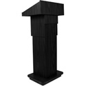AmpliVox AMP-W505ABK Executive Adjustable Column Lectern - Non Sound - Black