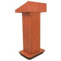 AmpliVox AMP-W505CH Executive Column Lectern - Non Sound - Cherry
