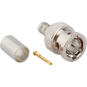 Amphenol 031-70537-12G Straight Crimp Plug 12G BNC Connector for Belden 4855R/1855A Cable - 75 Ohm