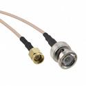 Amphenol 245101-07-24.00 BNC Straight Plug to SMA Straight Plug on RG-142 Cable - 24 Inches
