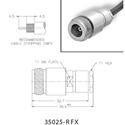 Amphenol 000-35025-RFX 50 Ohm N Connector - N CLAMP SOLDER (F) RG-58C/U