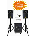 Special Projects EVO Sound Tower True Wireless System - Mixer CD Player with USB Input iDeck for iPod - 12 Inch Speakers