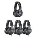 Audio-Technica ATH-PACK4 Studio Headphone Pack - 1 ATH-M40x and 3 ATH-M20x