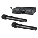 Audio Technica ATW-1322 Rackmount Digital Wireless System with 2 Receiver Units & 2 Handheld/Tx Microphones