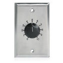 Atlas AT100 100W 1-Gang Stainless Steel 70.7V Commercial Attenuator