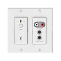 Attero Tech unA6IO-BT AES67 Networked Audio Wall Plate - 4x2 Multi I/O with Bluetooth - White Version