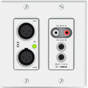 Attero Tech UND6IO Dante™ Networked Audio Wall Plate - 4x2 Multi I/O