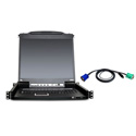 Aten CL5708MUKIT 8-Port 17 Inch Single Rail LCD KVM Console Bundle