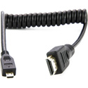 Atomos ATOM4K60C2 Coiled HDMI Full to HDMI Micro Cable - HDMI 2.0. 4K 60p and HD 240p - 40cm Coiled/80cm Extended
