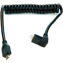 Atomos ATOMCAB005 Coiled Right-angle Micro HDMI to Micro HDMI Cable (30-45cm)