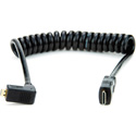Atomos ATOMCAB006 Coiled Right-angle Micro HDMI to Mini HDMI Cable (30-45cm)