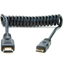 Atomos ATOMCAB008 Coiled Mini HDMI to Full HDMI Cable (30-45cm)