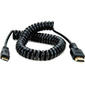 Atomos ATOMCAB009 Coiled Mini HDMI to Full HDMI Cable (50-65cm)
