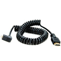 Atomos ATOMCAB013 Coiled Right-angle Micro HDMI to Full HDMI Cable (50-65cm)