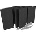 Auralex PPK1-SS-BLK ProPanel SonoSuede Kit 1 - Black