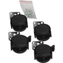 Auralex PROGO26-CASTER-KIT ProGo 26 Caster Kit - 2 Locking Casters & 2 Non-locking Casters with Screws